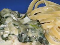 Kuracie prsia s gorgonzolou a lístkami špenátu
