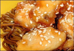 Kuracie kúsky v chrumkavom cestíčku a sezamovo - medovou glazúrou