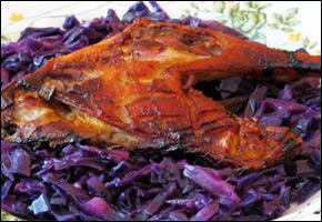 Pečená kačka cabernet