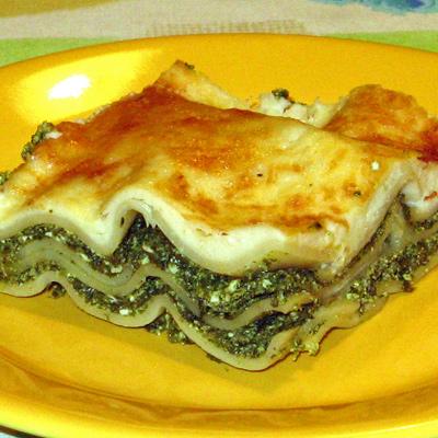 Lasagne so špenátom a talianskymi syrmi