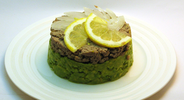 Sardinková pochúťka s citrónom, petržlenom a avokádom