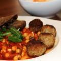 """Marocké guľky s paradajkovým cícerom a falošným """"harissa dipom"""""""