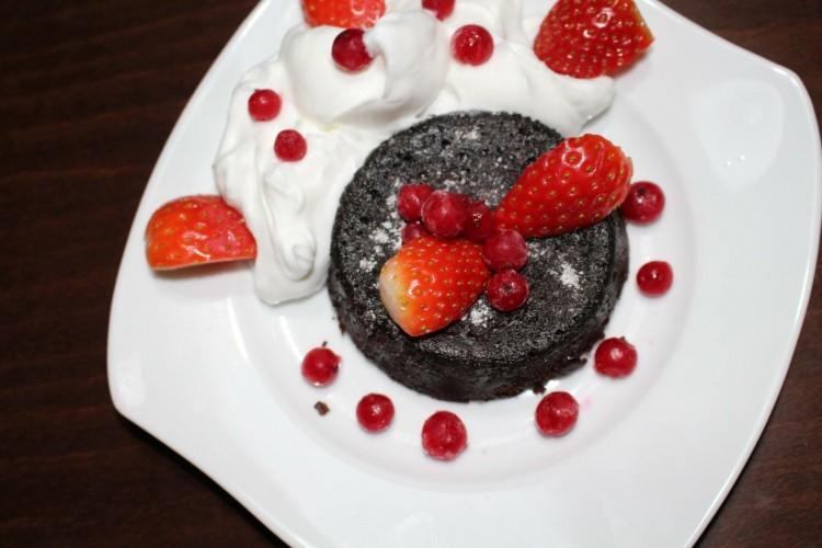 Čokoládový lávový dezert – Chocolate lava cake